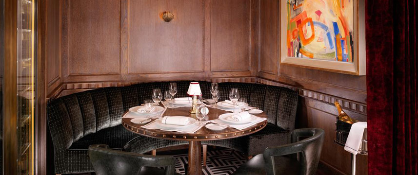 Flemings Mayfair - Ormer Restaurant Table