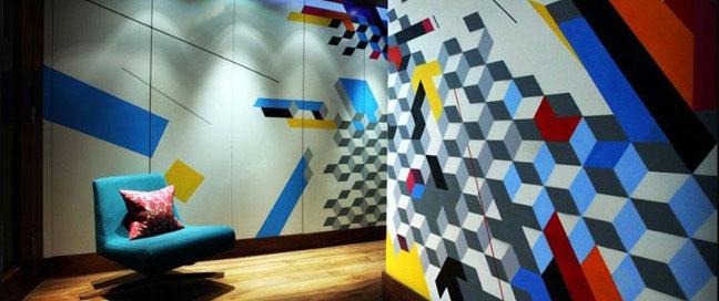 Hotel Megaro - Geometric walls