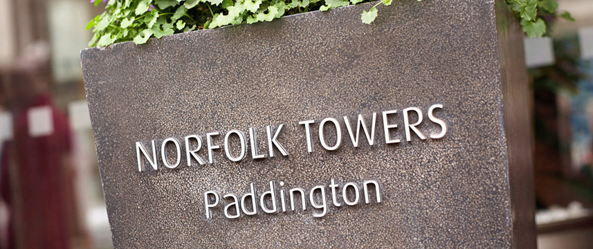 Norfolk Towers Paddington Hotel - Sign