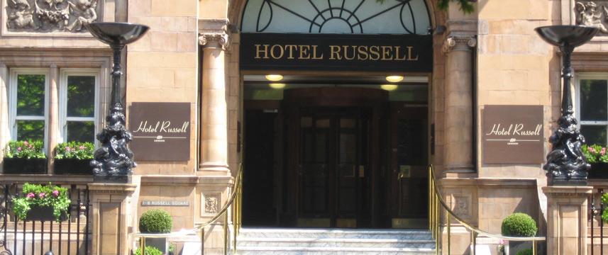 Russell Hotel Steps & front door