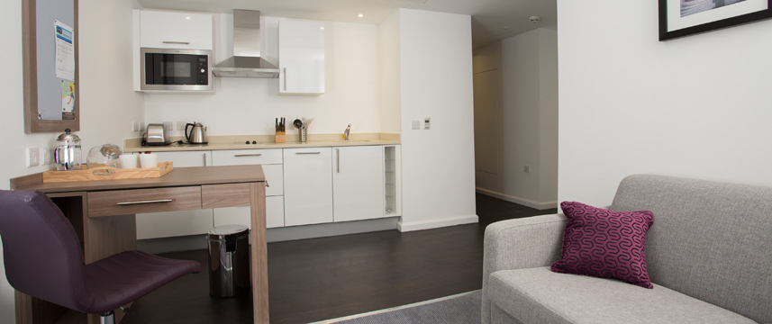 Staybridge Bham Kitchen Area