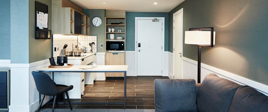Staybridge Suites Manchester Accessible Kitchen
