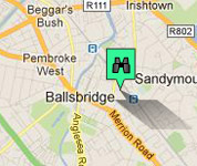 Click for map of Ballsbridge hotels