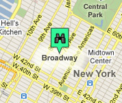 Click for map of Broadway hotels