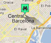 Click for map of Central Barcelona hotels