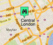 Click for map of Central London hotels
