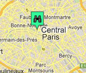 Click for map of Central Paris hotels