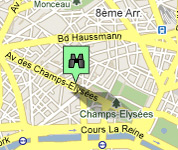 Click for map of Champs-Elysees hotels