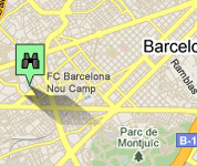 Click for map of FC Barcelona Camp Nou hotels