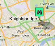 Click for map of Knightsbridge hotels