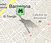 Click for map of Las Ramblas hotels