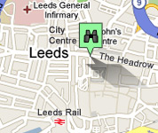 Click for map of Leeds City Centre hotels