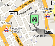 Click for map of Leicester Square hotels