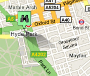 Click for map of Marble Arch hotels
