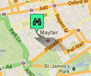 Click for map of Mayfair hotels