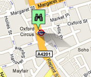 Click for map of Oxford Street hotels