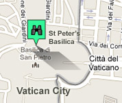 Click for map of St. Peter`s hotels