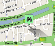 Click for map of Temple Bar hotels
