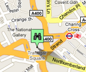 Click for map of Trafalgar Square hotels