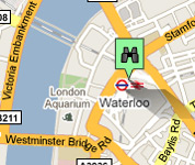 Click for map of Waterloo hotels