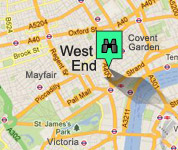 Click for map of West End hotels