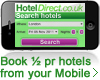 Book 1/2 hotels from your mobile