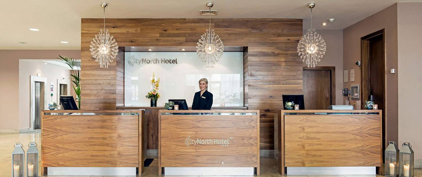 City North Hotel Reception Desk
