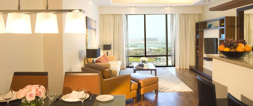 Fraser Suites  Dubai Living Area View