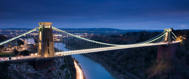 Holiday Inn Express Bristol City Hotel Clifton Bridge Night Main