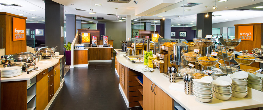 Holiday Inn Express City Centre Riverside Buffet Breakfast