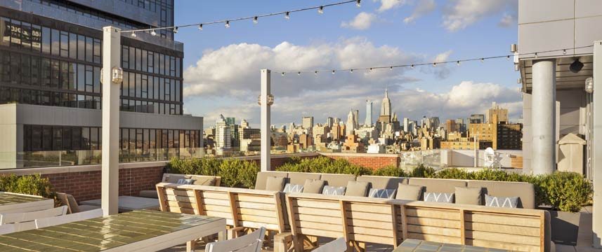 Hotel Indigo Lower East Side Rooftop Seating