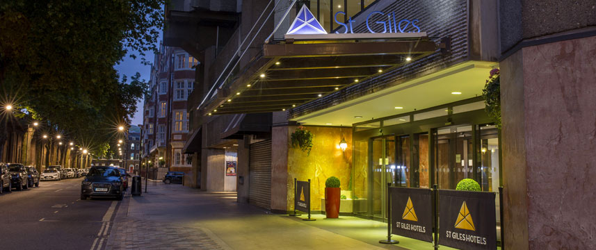 St Giles London - Classic Hotel Entrance Night