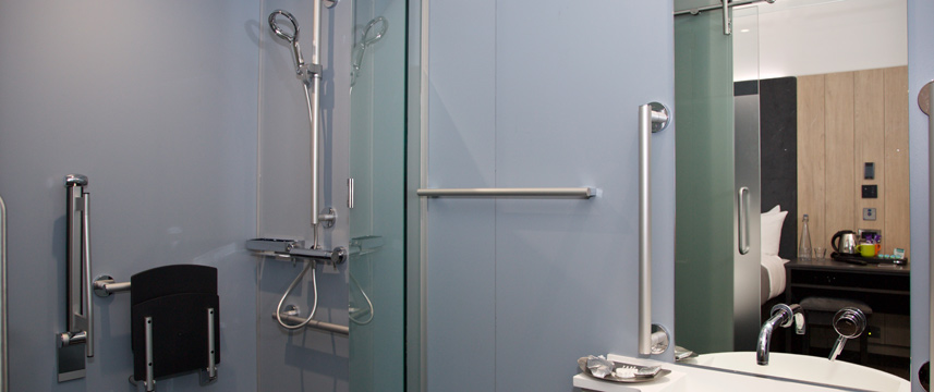 Z Hotel Bath - Accessible Shower Room