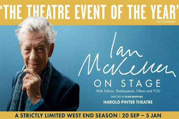 Ian McKellen On Stage- With Tolkien, Shakespeare, Others and YOU